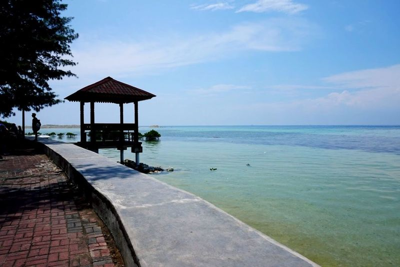 Indonesia, Jakarta, Pramuka Island Travel Destinations Cabin INDONESIA Sea Water Horizon Over Water Sky Tranquil Scene Tranquility Scenics Nature Beauty In Nature Outdoors Beach Day Blue No People first eyeem photo