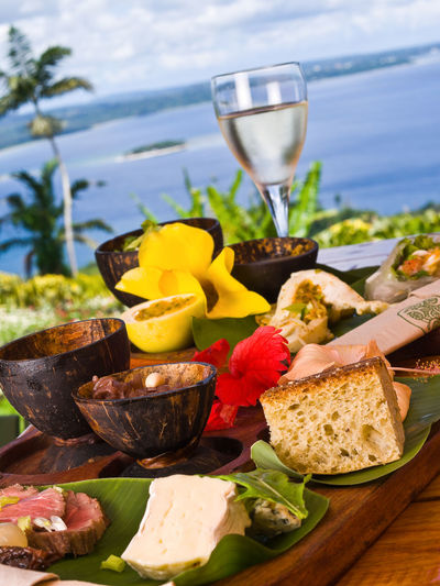 Lunch Efate Island Vanuatu Alcohol Beach Close-up Day Drink Food Freshness Fruit Melanesian No People Outdoors Pacific Pacific Ocean Picnic Star Fish Summer Tam Tam Tourism Travel Travel Destinations Tropical Drink Vacations Vivid International Wine Wineglass