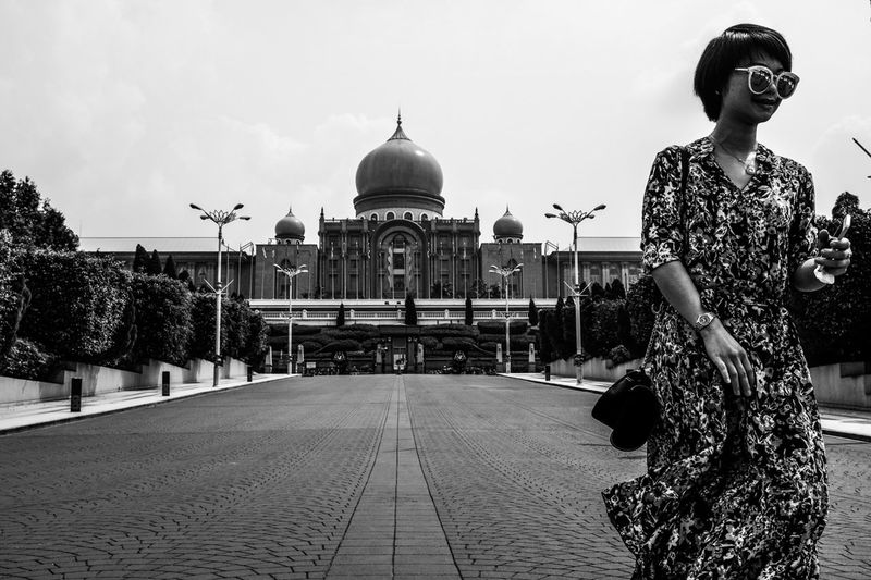 Chinese tourist in Putrajaya Administration City Administration Colleague Black And White Chinese Putrajaya Putrajaya, Malaysia Streetphotography