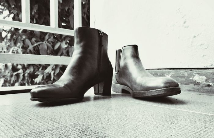 gender equality Conceptual Photography  GenderEquality Low Angle View Boots Press For Progress Shoe Low Section Indoors  Close-up