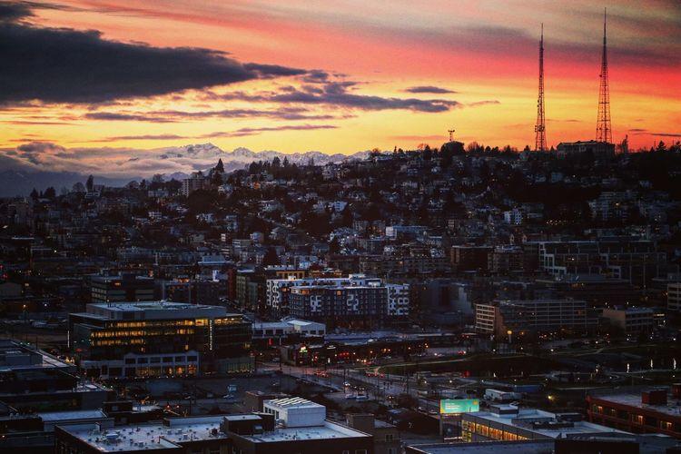 Seattle Skyline Downtown Seattle Sunset Hello World Skyporn Skylines