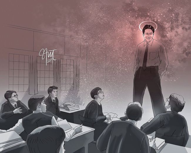No matter what anybody tells you, words and ideas can change the worlds ©Robin Williams - Dead Poets Society Illustration ArtWork Doodle NationalTeacherDay