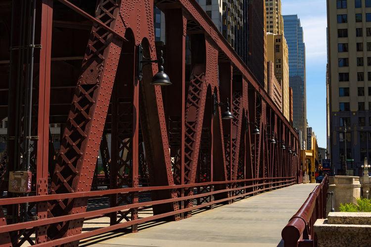 View of bridge in city