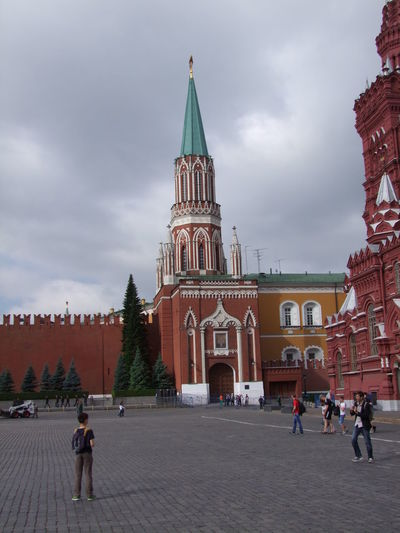 One of Kremlin Entrances Architecture Built Structure City Composition Cultures Entrance Gate Façade Famous Place Full Frame Gateway Grey Sky Incidental People Kremlin Kremlin Walls Moscow Outdoor Photography Red Square Russia Sunlight And Shadow Tourism Tourist Destination Tower Traditional Building Travel Destinations Tree