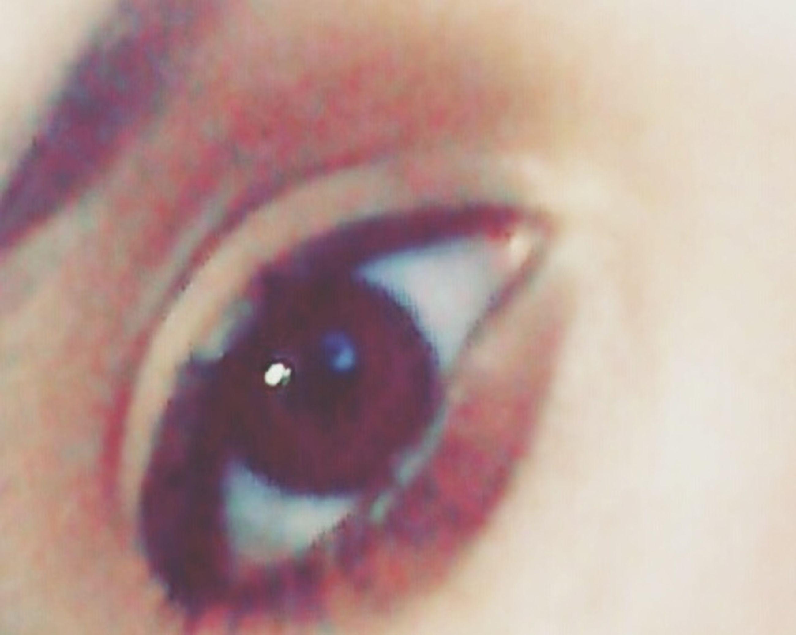human eye, eyesight, extreme close-up, eyelash, looking at camera, eyeball, vision, person, orange color, iris - eye, red, full frame, extreme close up, human skin, eyeshadow
