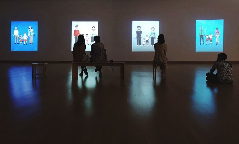 Vdo Exhibition Shadow Silhouette Screening Vdo Screen Film Screening Leisure Activity Vdo Installation City Life Bangkok Art And Culture Centre Film Industry Arts Culture And Entertainment Museum Art Museum Modern Art Wide Screen Projection Screen
