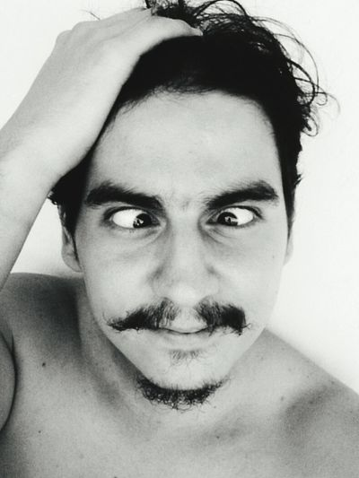 That's Me Pic Of The Day Enjoying Life Blackandwhite Coffee And Cigarettes Myself Mostacho Mostache Fool  Eyes
