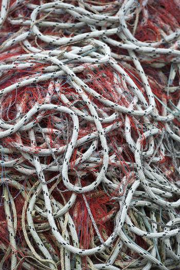 Full frame shot of fishing net