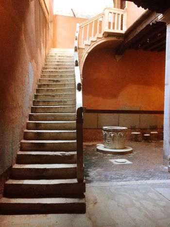 EyeEmNewHere Architecture Staircase Built Structure Stairs Medieval Venice, Italy Stone Well  Courtyard  Courtyard House Courtyard Views