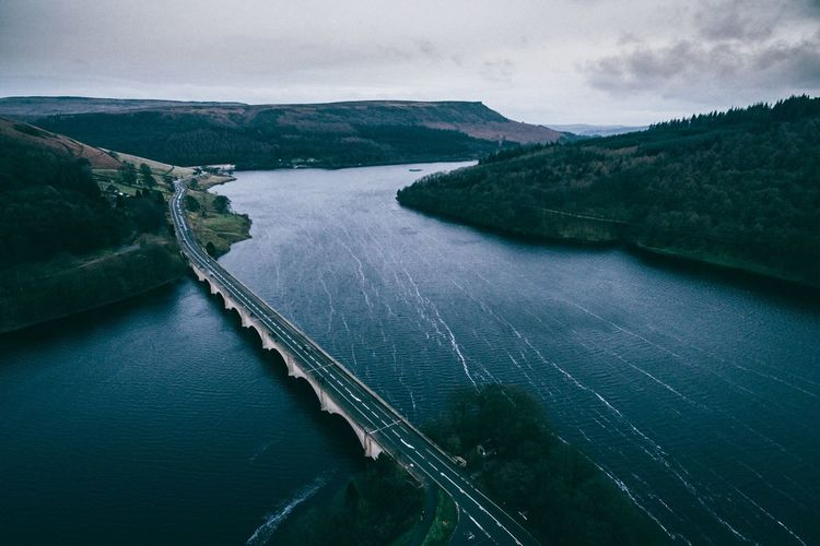 Nature Exploring Aerial Shot Dji Phantom Drone  Water Landscape Landscape_Collection Check This Out EyeEm Best Shots EyeEm Nature Lover Aerial View OpenEdit Landscape_photography Nature_collection Naturelovers Peak District  England Ladybower Reservoir Derwent Derbyshire Directly Above View Beauty Wintertime