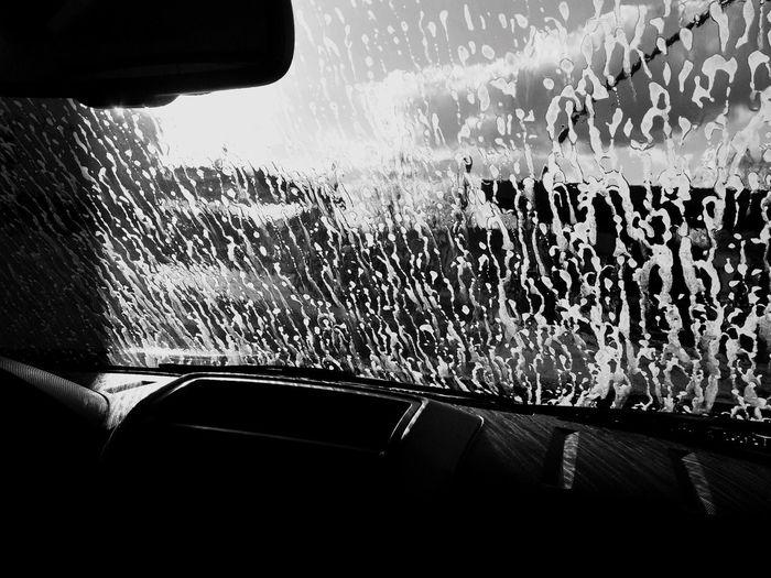 Car Wash Suds Soap Bubbles Streaks Daylight Passenger View Car Windshield Windshield Shots Summer Summertime Sun Evening Interior Interior Views The Week On EyeEm