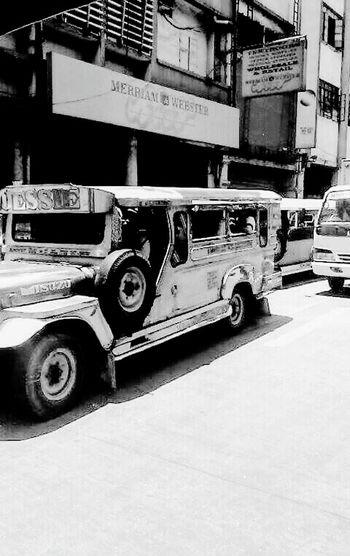 Outdoors Transportation Jeepney Ride JeepneyMoments Public Transportation ManilaStreetPhotography Manila, Philippines Rolling Shutter City Life City Street Cityview Black And White Collection  The Street Photographer - 2017 EyeEm Awards Stories From The City