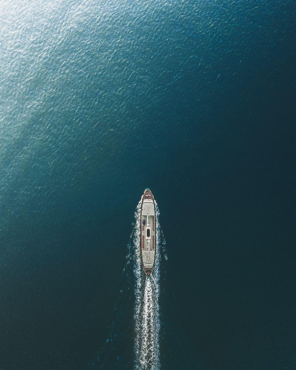 Scenic View Of Ship In Sea