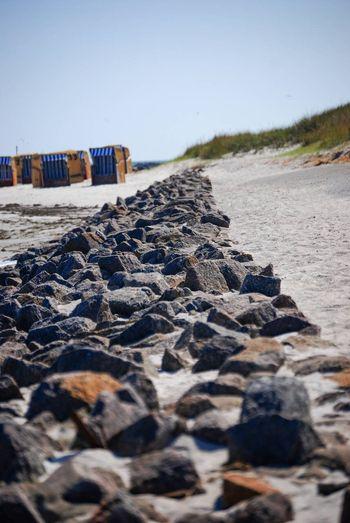 Baltic Sea Kreis Plön Beach Chair Beach Water Land Sky Sea Nature Rock Clear Sky Day Tranquility
