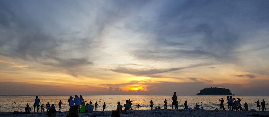 Sea Sunset Beach Sky Nature Phuket Phuket,Thailand Katabeach  Phuket Island Phuket Beach Sand Cloud - Sky Water