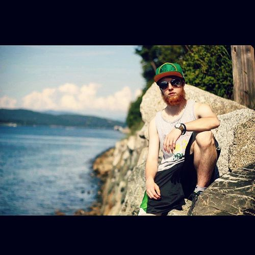 Just the homie @pacificjalen chillin on some rocks in A-Town. Outhere Anacortes Atown PNW Canon Rebel T5i SquadMob Squadshit Water Clouds Islands OhMy Beard DatBeardDoe WorkOfArt check out his page for some dope photos!