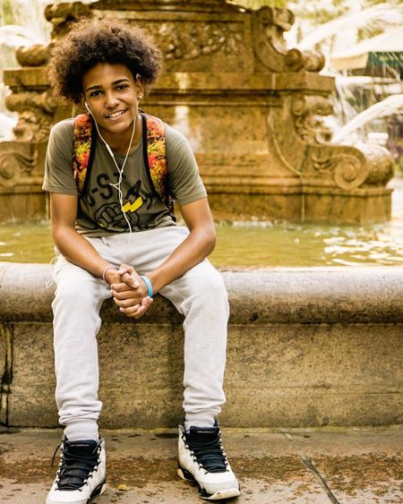 Bryant Park NYC Skakeboader Boy Portrait Photography Portrait