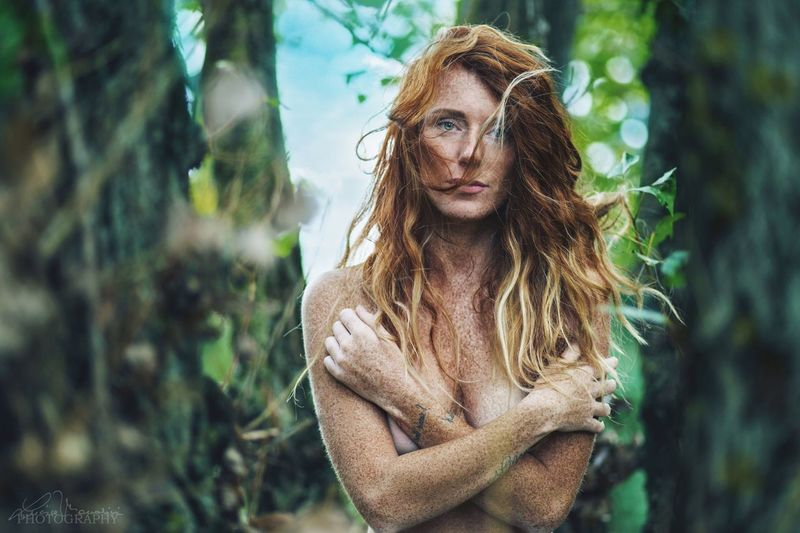 Muse: Selenia Redhead Beautiful Woman Long Hair Tree Nature Portrait Forest Young Women Real People Colors Color Portrait Beautiful EyeEmNewHere