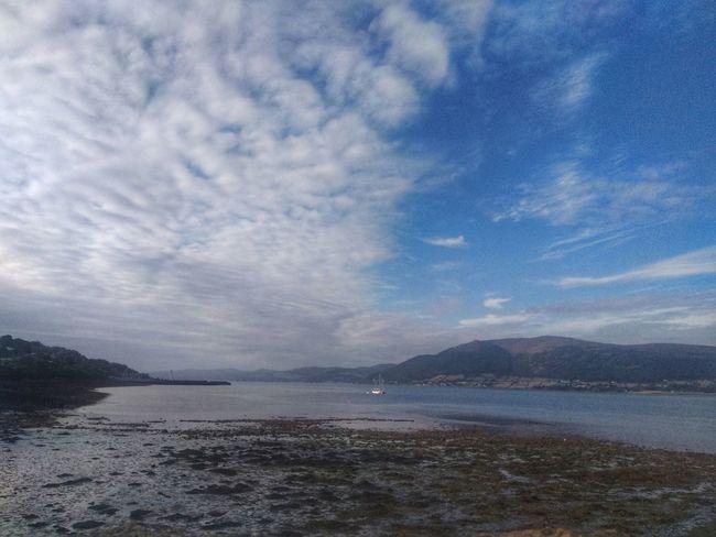 Water Sea Mountain Sky Cloud - Sky