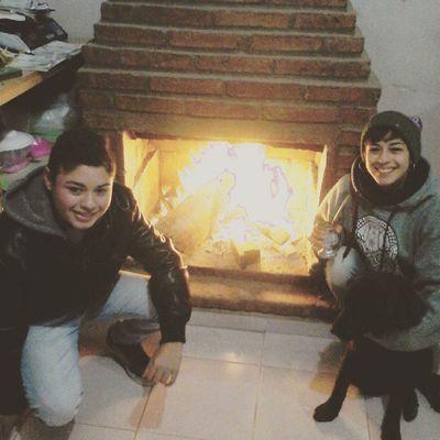 Hogar Lena Fuego Frio Anoche  ❄❄❄