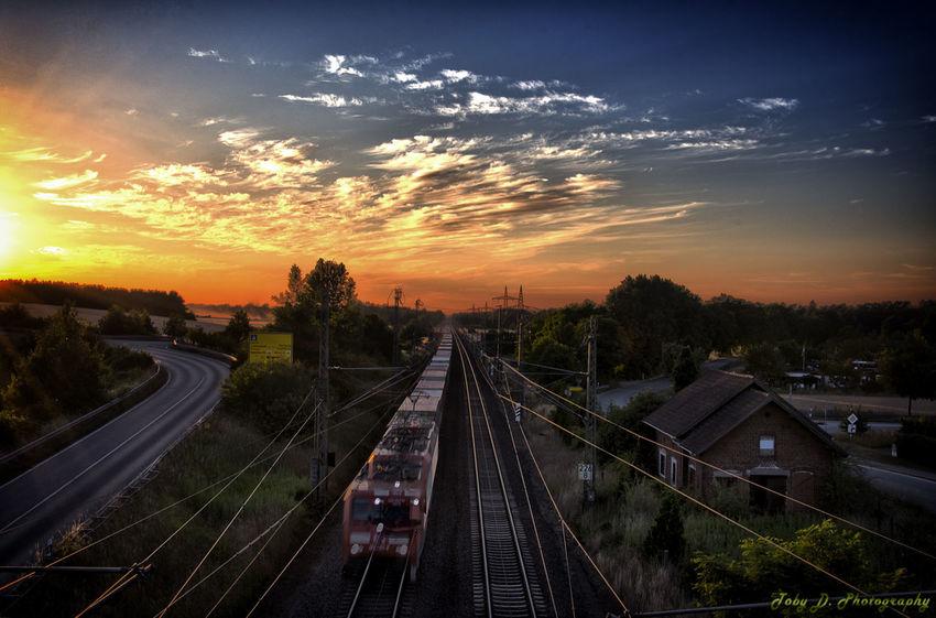 Blick von der B5 Brücke Train Brücken HDR Hdr_Collection