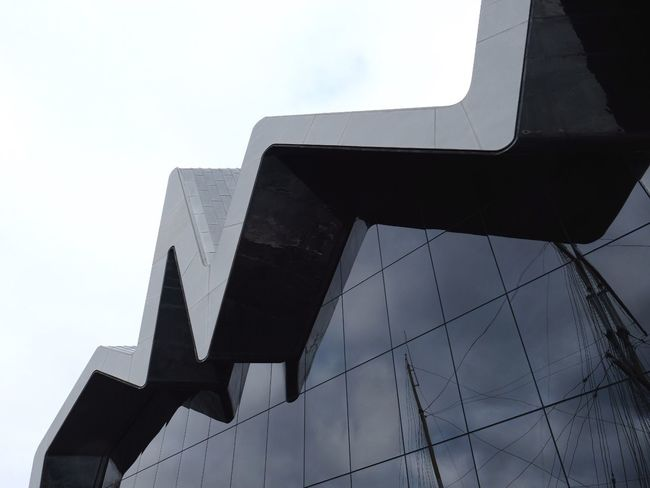 Architecture Built Structure Building Exterior Low Angle View Modern City No People Day Outdoors Travel Destinations Sky Riverside Museum Glasgow