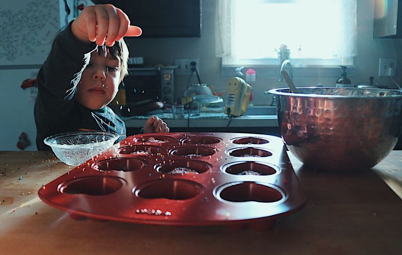 EyeEm Best Shots Love Sprinkles Check This Out Popular Photos Cupcakes Toddler  EyeEm Cooking Baking Real People Candid Lifestyles Food People Day Boys