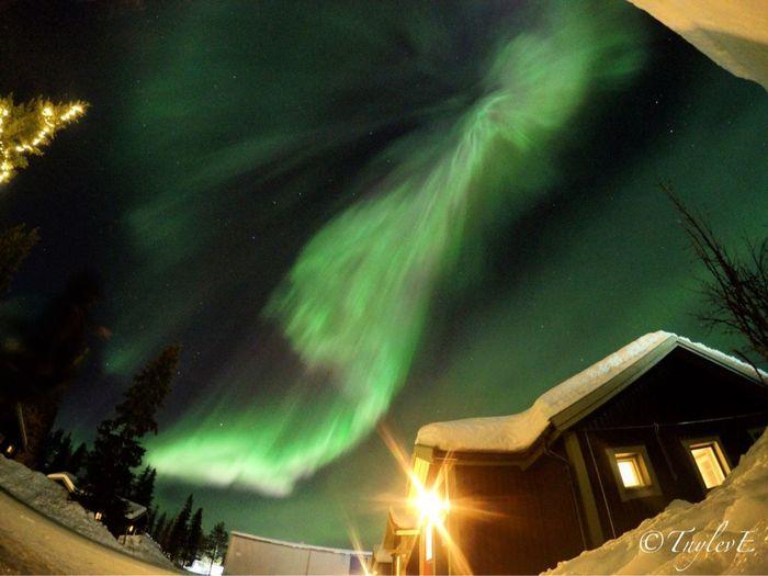 Northern lights - Aurora Borealis Jukkasjärvi Kiruna Sweden Icehotel Travel Photography Travel Adventure Gopro Lapland Arcticcircle Wanderlust