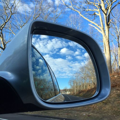 The view from the ear view mirror Rear View Rear View Mirror Photography Photo IPhoneography IPhone IPhone Photography Connecticut Sky Sky And Clouds Clouds And Sky Clouds Nature