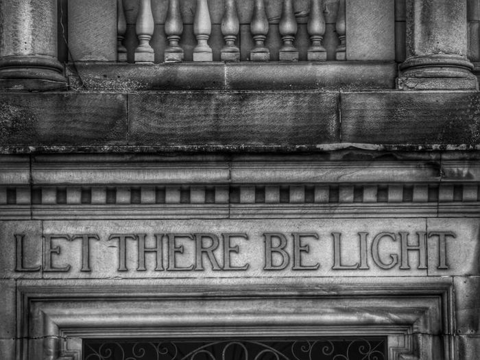 Architecture Built Structure Building Exterior No People Architectural Column History Outdoors Low Angle View Day Close-up Library Carnegie Library Scotland History Through The Lens  History Architecture Historical Building Let There Be Light! Black And White Friday