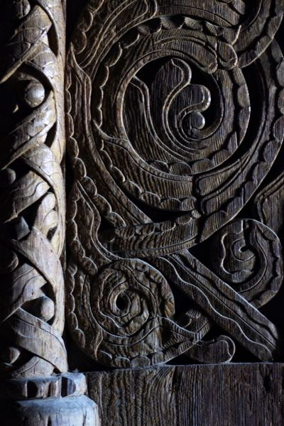 Ancient Wooden Door Wood Carving in a Norwegian Stave Church Norway Norway🇳🇴 Detail Textures And Surfaces Wood - Material Close-up Surfaces And Textures Darkness And Light Streaking Light Middle Ages Antique Door Carved Wood Carving In Wood Oak Doors Backgrounds Background Texture Viking