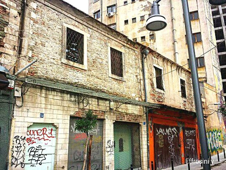 Building Old Buildings Vintage Merchandise Abandoned Buildings Concrete Brik Iron Street Light Buildings Downtown City Life Citycenter Street Photography Photography Samsung Galaxy S4 Thessaloniki Greece