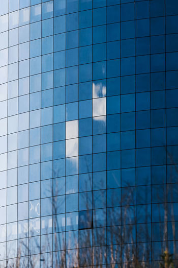 Blue Architecture Built Structure Sky Modern Building Reflection Building Exterior No People Glass - Material Cloud - Sky Office Building Exterior Nature Shape City Day Office Low Angle View Outdoors Skyscraper