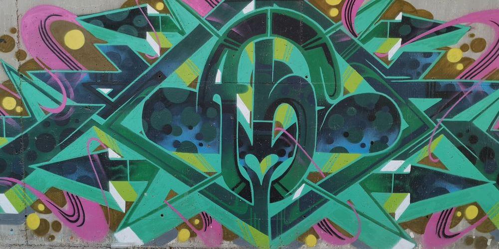 Full frame shot of multi colored art text