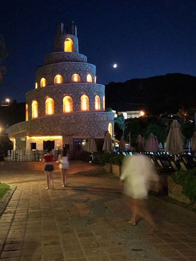 Moon Night Architecture Illuminated Built Structure Building Exterior Sky Travel Destinations Outdoors Incidental People Travel