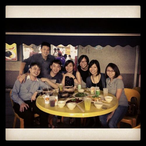 Friends = laughters n fun. A fun night with good frens Friendsforalifetime Friend Gathering United food