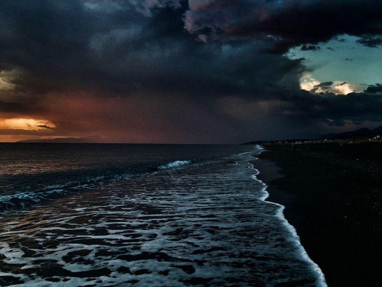 Shoreline Shore Shorelines Seaside Sea And Sky Sunset Collection Nightfalling Calabrian Coastline Calabria (Italy) Beaches Of Italy Italian Beach Beaches Of The World Myhumanstory