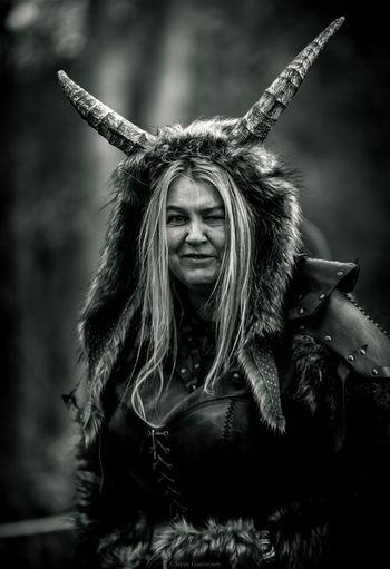 Portrait of woman in costume