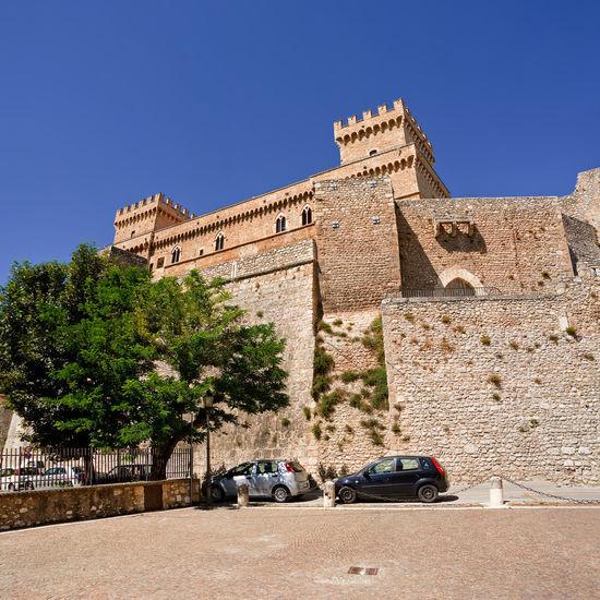 Piccolomini castle in celano (Italy) Abruzzo Castle Celano Fortification Fortress Hill Historic Historical Italy Landmark Piccolomini Scallop Tourism