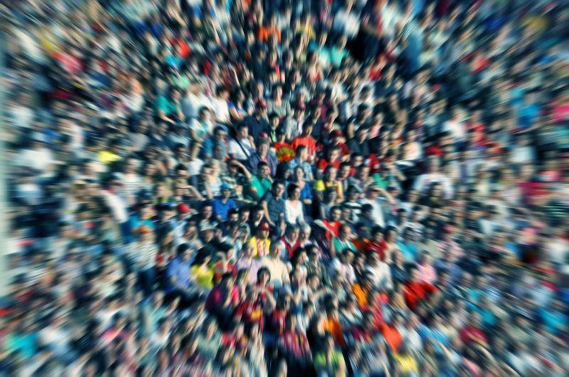 Full frame shot of crowd