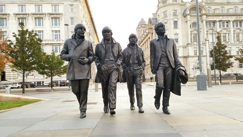 Beatles Fab Four Full Length Liverpool, England Liverpool Waterfront Liverpool Mobilephotography Samsung Galaxy S6 Edge+ Samsungphotography Mobile Photography Port Of Liverpool Building World Heritage Pier Head Liverpool Three Graces UNESCO World Heritage Site Eyeem Photography Morning Sun Bright Statue Statues The Beatles John Lennon Paul Mccartney Ringo Starr George Harrison