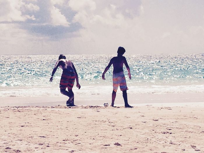Two Is Better Than One Brothers Bahamas Football Beach