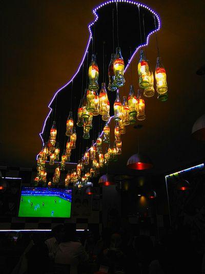 Coca Cola Indoors  Ilumination Vintage Restaurant Decor Vintage Decor Bar