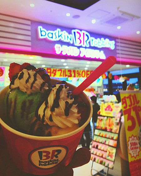 Food Food And Drink Freshness Unhealthy Eating Text Sweet Food Close-up Indoors  One Person Day Ready-to-eat Human Body Part Ice Cream Parlor Ice Cream Sundae People