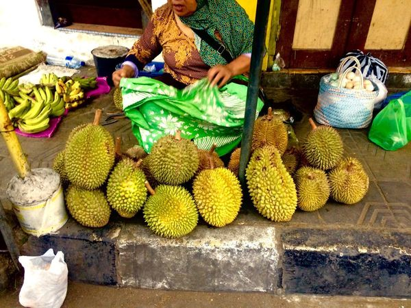 Durian, Durio zibethinus Kingfruit Fruit Food Market Food And Drink Freshness Healthy Eating Yogyakarta, Indonesia Java Outdoors Central Java,indonesia