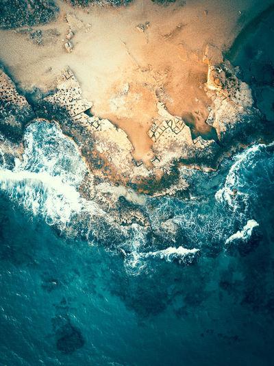 Full frame shot of frozen sea
