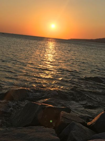 Sunset Sky Water Beauty In Nature Scenics - Nature Sea Orange Color EyeEmNewHere