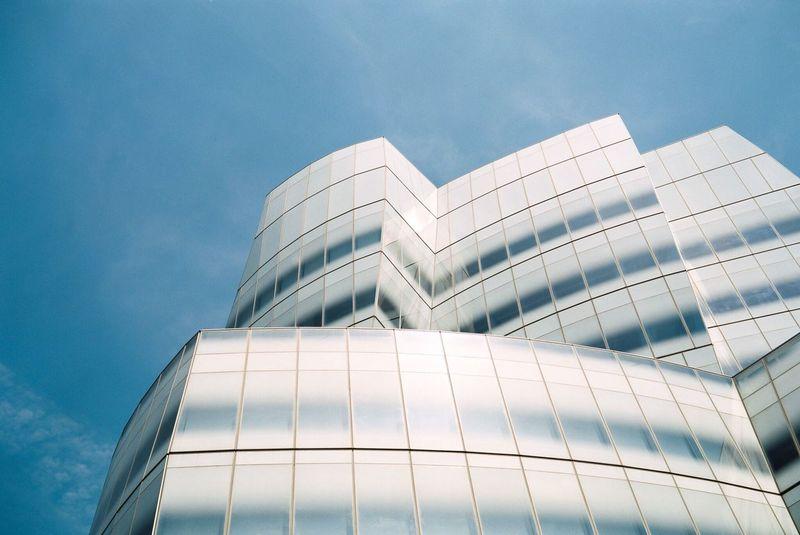 { Film } Very Gehry Curves, Manhattan / Fuji GW690II, Fujifilm 400H Film Filmisnotdead Fujifilm