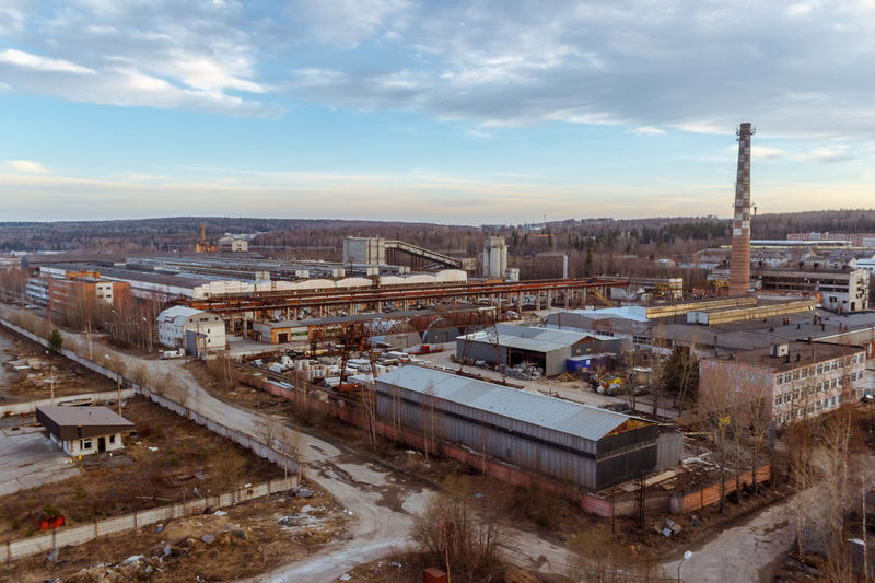 Industrial Area Architecture Autumn Built Structure City Cityscape Day Factory Horizon Industrial No People Outdoors Russia Sky Sky And Clouds Tube Urban Urbanphotography Weather завод осень промзона Россия