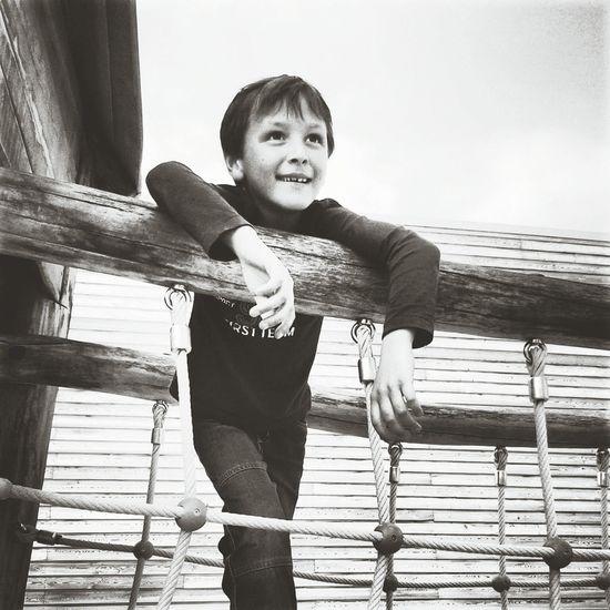 Childhood Cute Innocence Blackandwhite Nice Day Smile